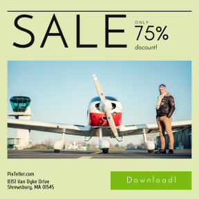 Image design template for sales - #banner #businnes #sales #CallToAction #salesbanner #avion #wing #private #airplane #normandie #airline