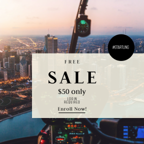 Image design template for sales - #banner #businnes #sales #CallToAction #salesbanner #river #tech #above #construction #flight #fly #technology