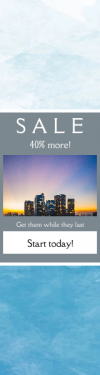 Skyscraper wide web banner template for sales - #banner #businnes #sales #CallToAction #salesbanner #company #phenomenon #city #cloud #los #tower #building #azure #color