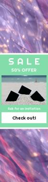 Skyscraper wide web banner template for sales - #banner #businnes #sales #CallToAction #salesbanner #sea #photo #ocean #biology #sand #texture #beach