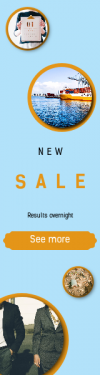Skyscraper wide web banner template for sales - #banner #businnes #sales #CallToAction #salesbanner #detail #boat #aerial #view #connection #shapes #person