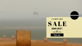FullHD image template for sales - #banner #businnes #sales #CallToAction #salesbanner #tree #field #hay #land #bale