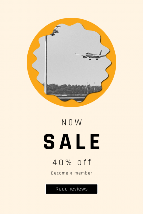 Portrait design template for sales - #banner #businnes #sales #CallToAction #salesbanner #edges #black #and #squares #woodland #aircraft #grungy #stop #landing