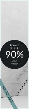 Skyscraper wide web banner template for sales - #banner #businnes #sales #CallToAction #salesbanner #design #button #add #circle #white #circular #adding #minimal