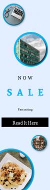 Skyscraper wide web banner template for sales - #banner #businnes #sales #CallToAction #salesbanner #reel #stethoscope #baking #shop #display #bright #medical #reflection #cloud