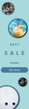Skyscraper wide web banner template for sales - #banner #businnes #sales #CallToAction #salesbanner #marketing #business #travel #portrait #bar #juicy