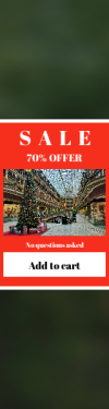 Skyscraper wide web banner template for sales - #banner #businnes #sales #CallToAction #salesbanner #structure #cleveland #mall #christmas #sky #tree #ceiling