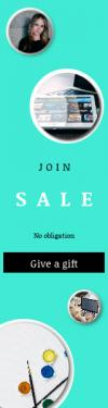 Skyscraper wide web banner template for sales - #banner #businnes #sales #CallToAction #salesbanner #hair #art #light #orange #quote #paint #blonde #cement #technology