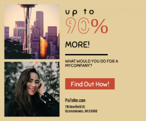 Square large web banner template for sales - #banner #businnes #sales #CallToAction #salesbanner #seattle #merry #caucasian #needle #tree #architecture #black