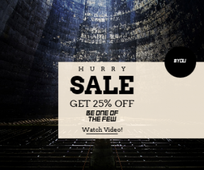 Square large web banner template for sales - #banner #businnes #sales #CallToAction #salesbanner #zion #shapes #transilvanium #station #power #tunnel #circular #arms #man #light