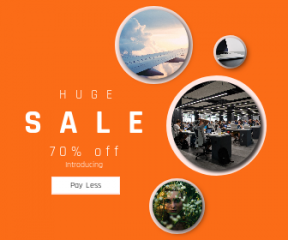Square large web banner template for sales - #banner #businnes #sales #CallToAction #salesbanner #caucasian #engineering #airplane #swivel #summer #grey #hackathon