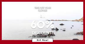 Card design template for sales - #banner #businnes #sales #CallToAction #salesbanner #bank #rock #waterside #tide #ocean #shore #beach #cove