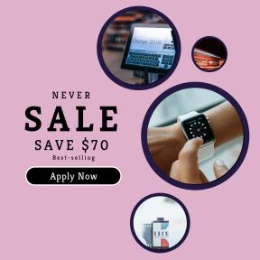 Image design template for sales - #banner #businnes #sales #CallToAction #salesbanner #clock #purchase #field #cart #till #lights #passing #time #street #circular