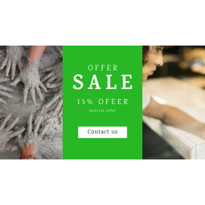 Image design template for sales - #banner #businnes #sales #CallToAction #salesbanner #mud #clay #using #people #sitting #iPhone #mobile #woman #credit