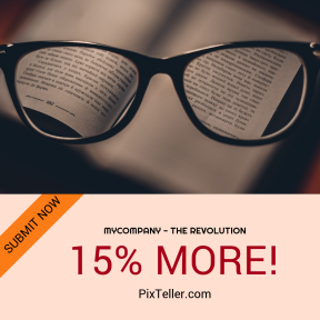 Image design template for sales - #banner #businnes #sales #CallToAction #salesbanner #language #teacher #glass #book #spectactles #cyrillic