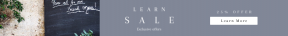 Leaderboard web banner template for sales - #banner #businnes #sales #CallToAction #salesbanner #geometric #filled #cafe #brick #pot #chalkboard #brunch