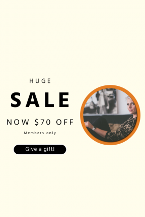 Portrait design template for sales - #banner #businnes #sales #CallToAction #salesbanner #fashion #geometry #jeans #wrist #lounge #ring #shapes #lip