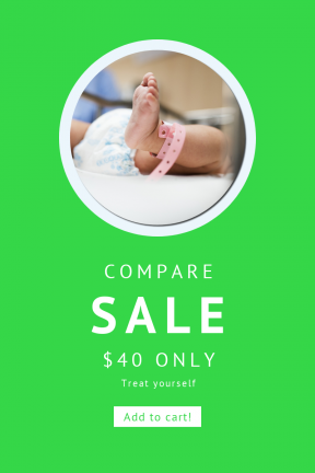 Portrait design template for sales - #banner #businnes #sales #CallToAction #salesbanner #rounded #circles #kid #diaper #shapes #crab #round