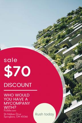 Portrait design template for sales - #banner #businnes #sales #CallToAction #salesbanner #urban #tree #sky #property #real #building #estate #design #condominium