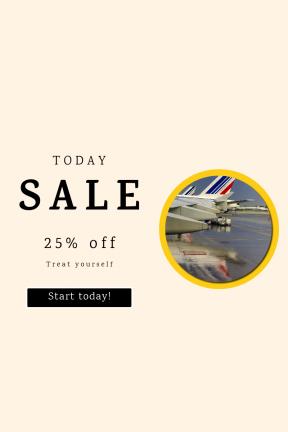 Portrait design template for sales - #banner #businnes #sales #CallToAction #salesbanner #airport #vacation #window #black #rain #flight #web