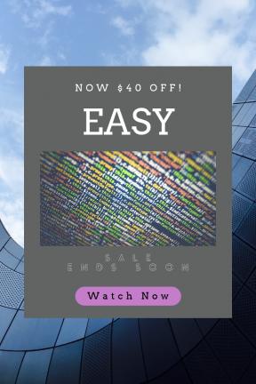 Portrait design template for sales - #banner #businnes #sales #CallToAction #salesbanner #software #screen #structure #language #glass #circular #internet #color