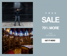Square large web banner template for sales - #banner #businnes #sales #CallToAction #salesbanner #black #library #wear #study #bookshelf #style #street #interior #casual