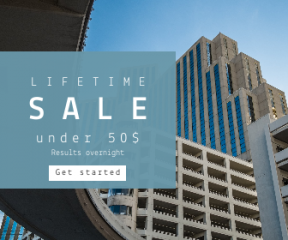 Square large web banner template for sales - #banner #businnes #sales #CallToAction #salesbanner #cityscape #urban #under #tower #building #structure #landscape #reno