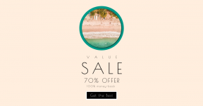 Card design template for sales - #banner #businnes #sales #CallToAction #salesbanner #bank #grass #sand #ecoregion #water