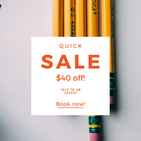 Image design template for sales - #banner #businnes #sales #CallToAction #salesbanner #wood #yellow #hb2 #eraser #learn #writing #write #draft #notebook