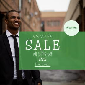 Image design template for sales - #banner #businnes #sales #CallToAction #salesbanner #gentleman #fashion #male #professional #building #corporate