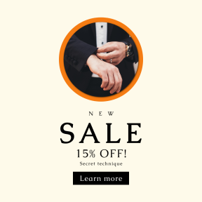 Image design template for sales - #banner #businnes #sales #CallToAction #salesbanner #business #tuxedo #circle #background #add #buttons #watch #face