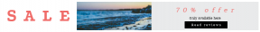 Leaderboard web banner template for sales - #banner #businnes #sales #CallToAction #salesbanner #nature #filled #shapes #square #sunset #beach #wavescrashing #newengland