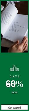 Skyscraper wide web banner template for sales - #banner #businnes #sales #CallToAction #salesbanner #book #flatlay #writing #poet #poetry #pen #person #reading #hands #study