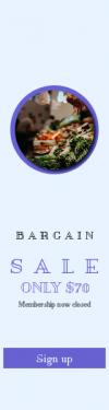 Skyscraper wide web banner template for sales - #banner #businnes #sales #CallToAction #salesbanner #vegetable #market #food #stall #price #produce