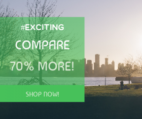 Square large web banner template for sales - #banner #businnes #sales #CallToAction #salesbanner #park #grass #autumn #skyscraper #cityscape #landscape #water #city #recruitment #skyline