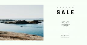 Card design template for sales - #banner #businnes #sales #CallToAction #salesbanner #coast #horizon #shore #sail #boat #sea #freedom #barco