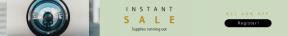 Leaderboard web banner template for sales - #banner #businnes #sales #CallToAction #salesbanner #boxes #rectangles #lens #shape #glass #frames #bracket #ragged