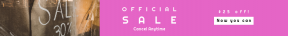 Leaderboard web banner template for sales - #banner #businnes #sales #CallToAction #salesbanner #percent #hand #closed #city #glass #sign #arrow #sale #shop #window