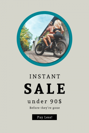 Portrait design template for sales - #banner #businnes #sales #CallToAction #salesbanner #man #wall #business #wild #woman #pot #rider #motorbike #street #male