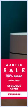 Skyscraper wide web banner template for sales - #banner #businnes #sales #CallToAction #salesbanner #internet #wifi #green #technofile #series #google #bokeh #shadow
