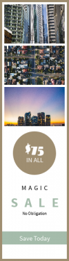 Skyscraper wide web banner template for sales - #banner #businnes #sales #CallToAction #salesbanner #symmetry #skyline #architecture #rounded #afternoon #modern #facade #color