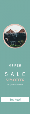 Skyscraper wide web banner template for sales - #banner #businnes #sales #CallToAction #salesbanner #tourist #attraction #home #sign #Gallery