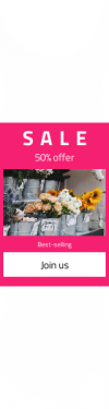 Skyscraper wide web banner template for sales - #banner #businnes #sales #CallToAction #salesbanner #sunflower #gulch #black #carnation #price #like #sized #medium