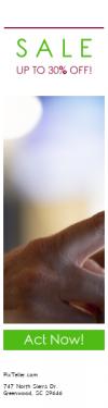 Skyscraper wide web banner template for sales - #banner #businnes #sales #CallToAction #salesbanner #computer #hand #touchscreen #tablet #blurry #select #near