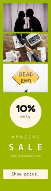 Skyscraper wide web banner template for sales - #banner #businnes #sales #CallToAction #salesbanner #sign #pink #warning #together #business #shaking #handshake #collar #deal #hand