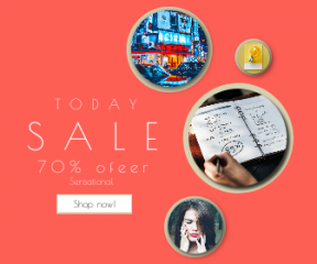 Square large web banner template for sales - #banner #businnes #sales #CallToAction #salesbanner #view #percentage #portrait #creative #graph