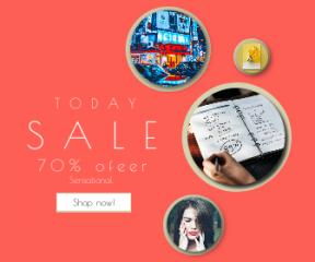 Square large web banner template for sales - #banner #businnes #sales #CallToAction #salesbanner #view #percentage #portrait #creative #graph