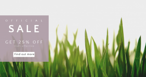 Card design template for sales - #banner #businnes #sales #CallToAction #salesbanner #sunlight #outdoors #white #green #grass #field #sunset #agriculture