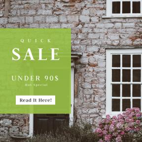 Image design template for sales - #banner #businnes #sales #CallToAction #salesbanner #concrete #building #stone #door #cottage #doorway #garden #window #wall #glass