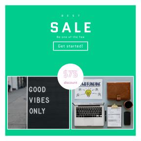 Image design template for sales - #banner #businnes #sales #CallToAction #salesbanner #desk #sign #business #workspace #board
